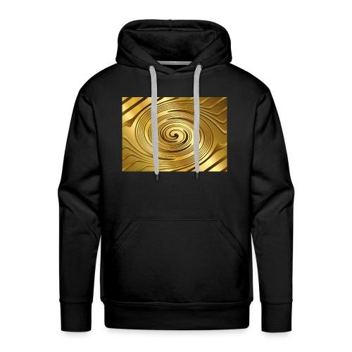 spirale d'oro - Felpa con cappuccio premium da uomo