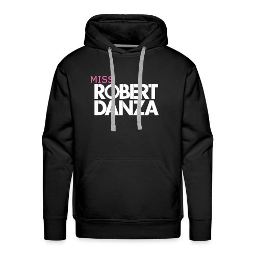 cap_logo_roze_miss_wit_copy - Mannen Premium hoodie