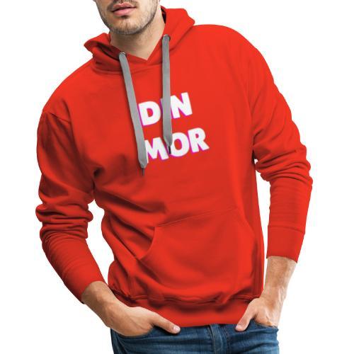 DIN MOR PINK - Herre Premium hættetrøje