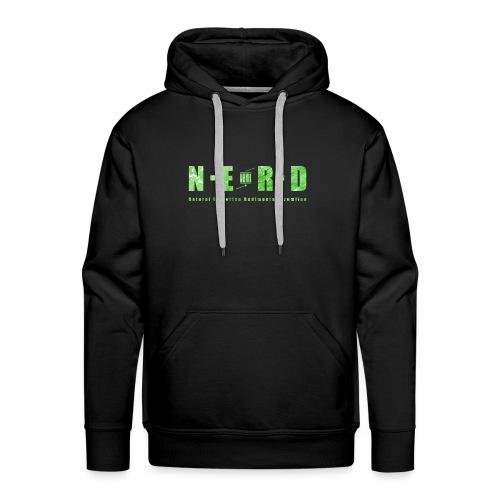 NERD Green - Herre Premium hættetrøje