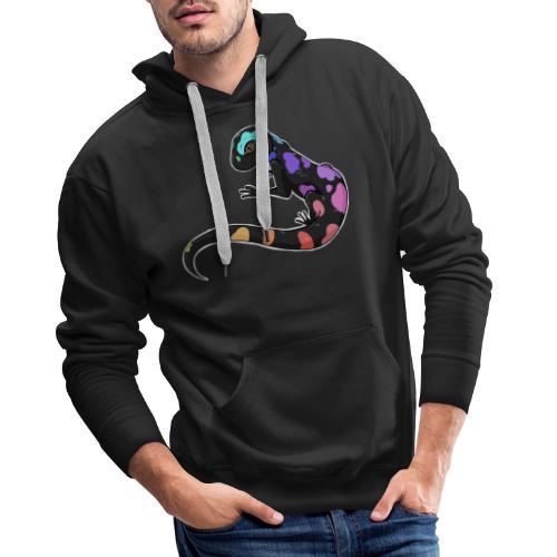 Salamandre Arc en ciel - Sweat-shirt à capuche Premium pour hommes
