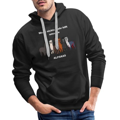 Shirt 2 BRAUN Alpakas - Männer Premium Hoodie
