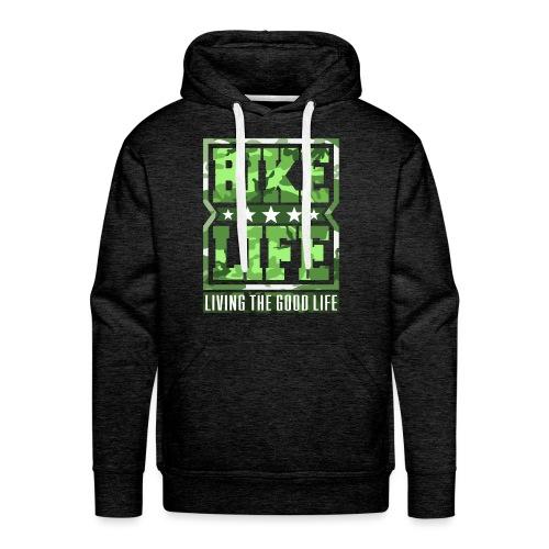 Bikelife Green Camo - Men's Premium Hoodie
