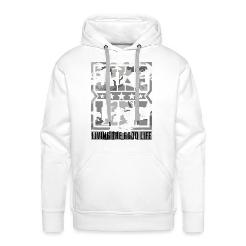Bikelife White Camo - Men's Premium Hoodie