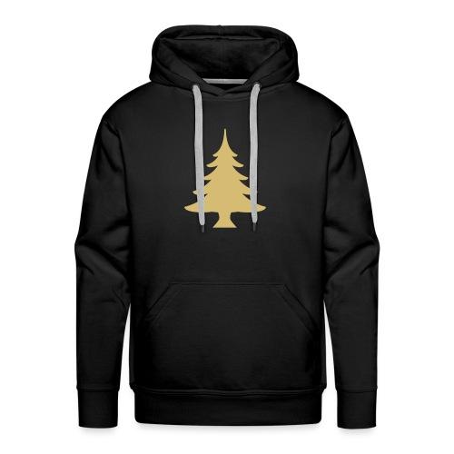 Weihnachtsbaum Kerstboom Goud - Mannen Premium hoodie