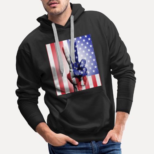 Stars Stripes & Peace - Men's Premium Hoodie