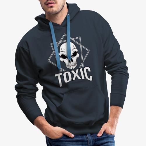 Toxic Skull - Herre Premium hættetrøje