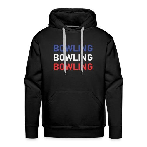 Bowling Bleu Blanc Rouge - Sweat-shirt à capuche Premium pour hommes