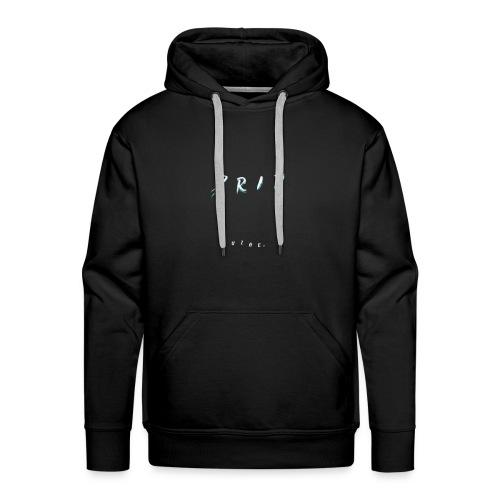 VIBE. 'D R I P' White Design - Men's Premium Hoodie