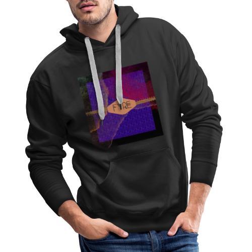 FYRE Colour Splat Print - Men's Premium Hoodie