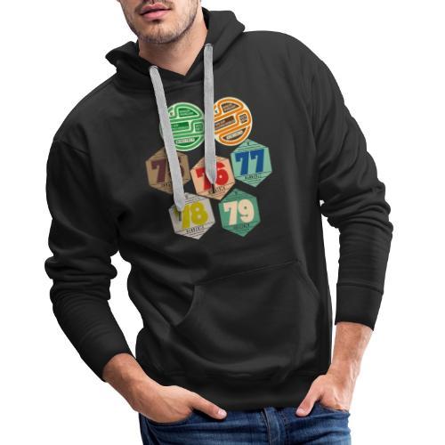 Vignettes automobiles années 70 - Sweat-shirt à capuche Premium pour hommes