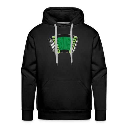 Schwyzerörgeli grün schwarzer Hintergrund - Männer Premium Hoodie