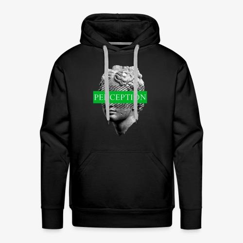 TETE GRECQ GREEN - PERCEPTION CLOTHING - Sweat-shirt à capuche Premium pour hommes