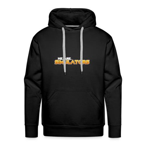 we are simulators tshirt logo - Men's Premium Hoodie