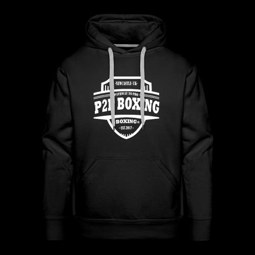 P2P Boxing White Logo - Men's Premium Hoodie