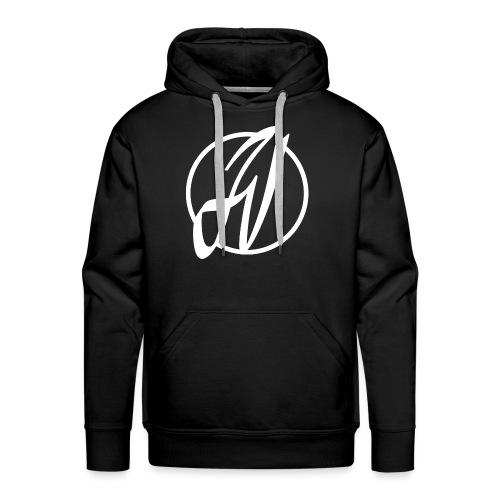 JV Guitars - logo blanc - Sweat-shirt à capuche Premium pour hommes