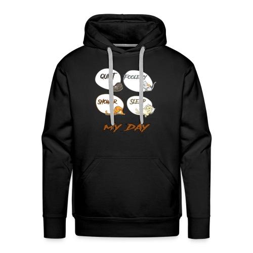 cat day - Sweat-shirt à capuche Premium pour hommes