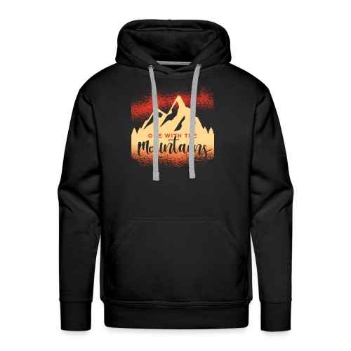 One with the mountains - Männer Premium Hoodie