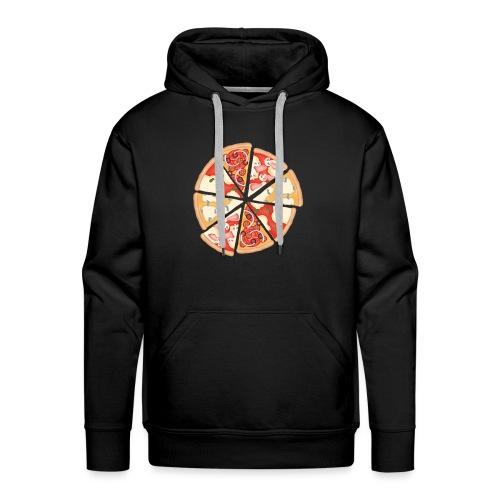 La pizza - Felpa con cappuccio premium da uomo
