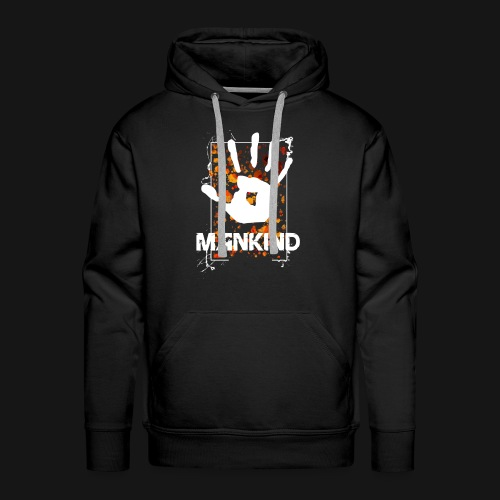 Mankind splatter design hand - Men's Premium Hoodie