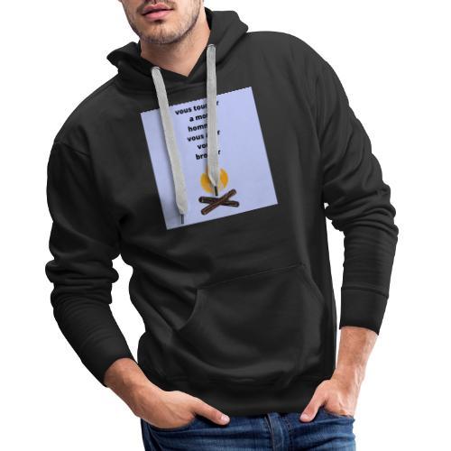 c pour les homme qui sont pris - Sweat-shirt à capuche Premium pour hommes