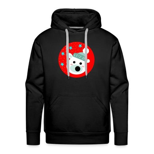 Winter bear - Men's Premium Hoodie