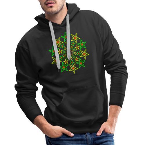 Fractal Star 3 color neon - Men's Premium Hoodie