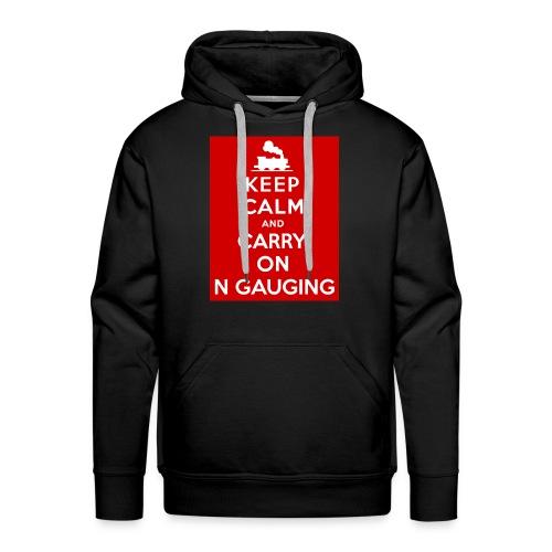 Keep Calm And Carry On N Gauging - Men's Premium Hoodie