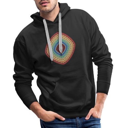 Lucky square in summery colors - Men's Premium Hoodie