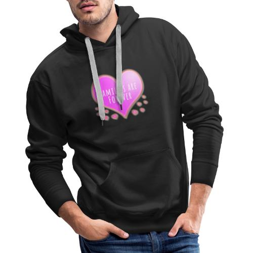 Families are forever pink heart - Men's Premium Hoodie