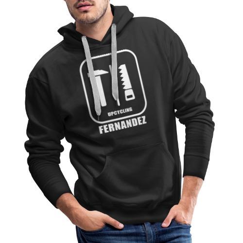 Logo Weiss Schwarz - Männer Premium Hoodie