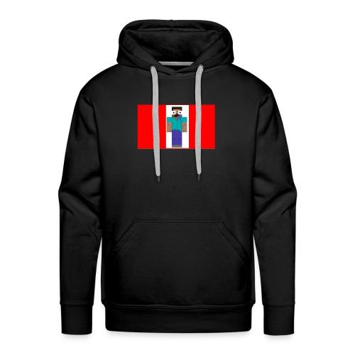 mine craft derp skin t shirt - Men's Premium Hoodie