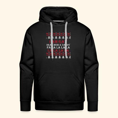 Gay Christmas sweater - Bluza męska Premium z kapturem