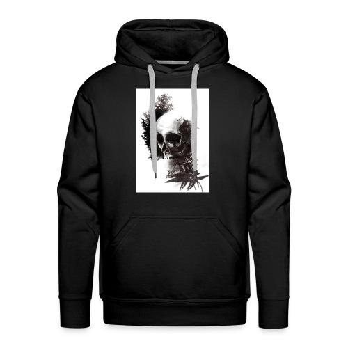 skull leaf - Felpa con cappuccio premium da uomo