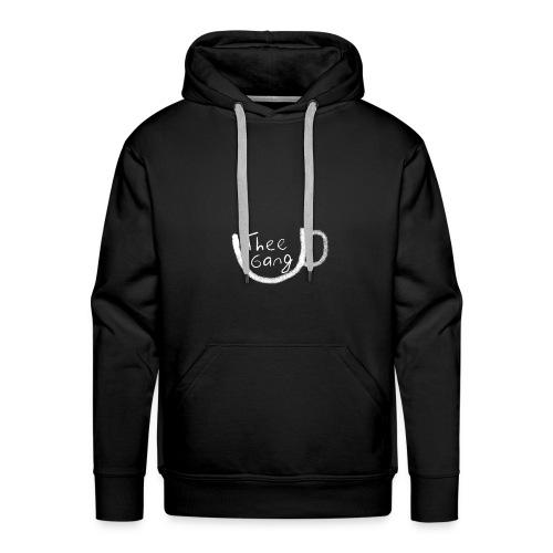 Theegang logo wit - Mannen Premium hoodie