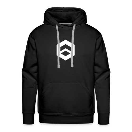 Plain black w/ logo - Men's Premium Hoodie