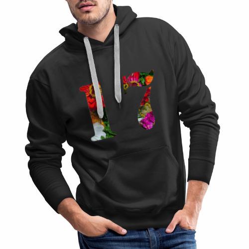 17 flores - Sudadera con capucha premium para hombre