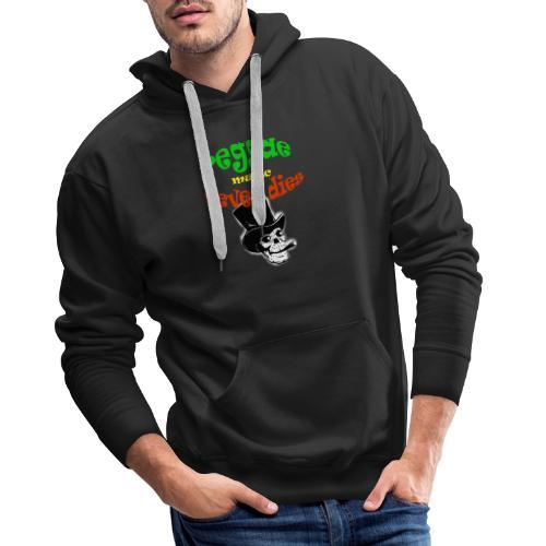 Reggae Muziek Never Dies - Mannen Premium hoodie