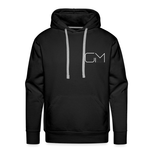 GM GregsMedia 2018 Logo V4 WT png - Men's Premium Hoodie