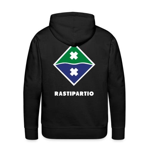 Rapalogo valkoisella - Miesten premium-huppari