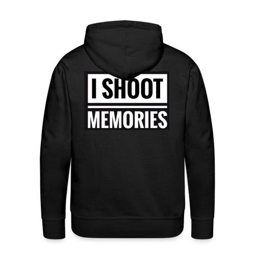 I SHOOT MEMORIES, BLACK EDITION - Herre Premium hættetrøje