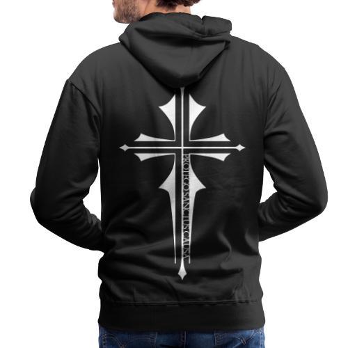 Cross Latin White - Männer Premium Hoodie