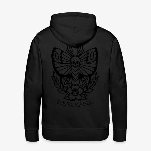 Traditional Tattoo Moth - Men's Premium Hoodie