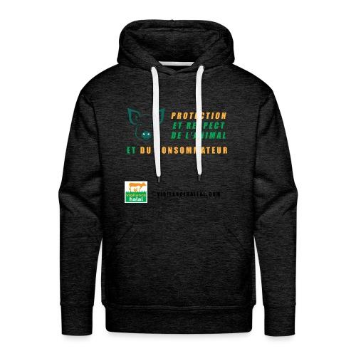 protection-cochon - Sweat-shirt à capuche Premium pour hommes