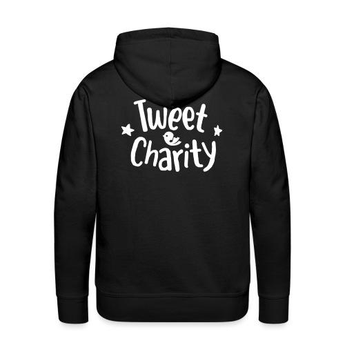 Tweet Charity One Color - Felpa con cappuccio premium da uomo