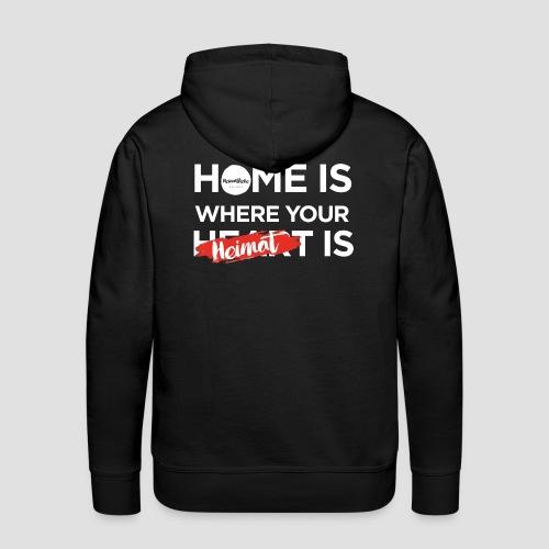 Home Heimat Heart Black - Männer Premium Hoodie