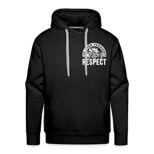 LOGO WIT DeBoerVerdientRe - Mannen Premium hoodie