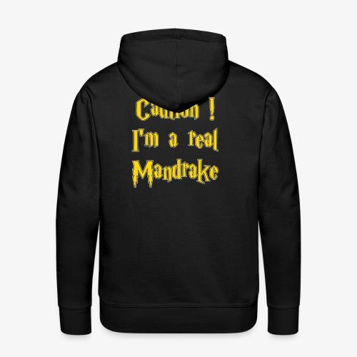 Attention - Mandragore - Sweat-shirt à capuche Premium pour hommes