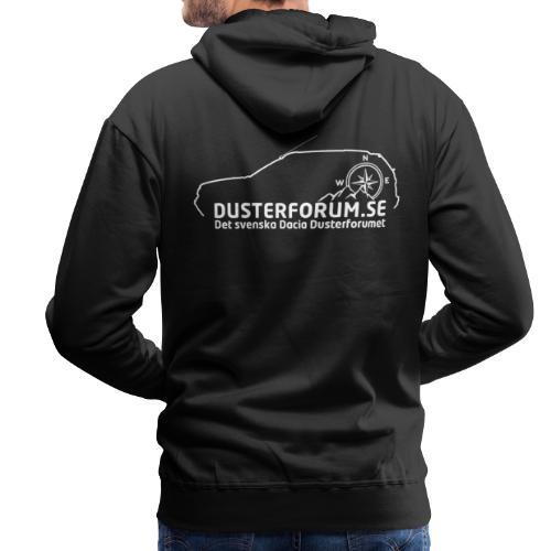 Dusterforum logo #2 Vit - Premiumluvtröja herr