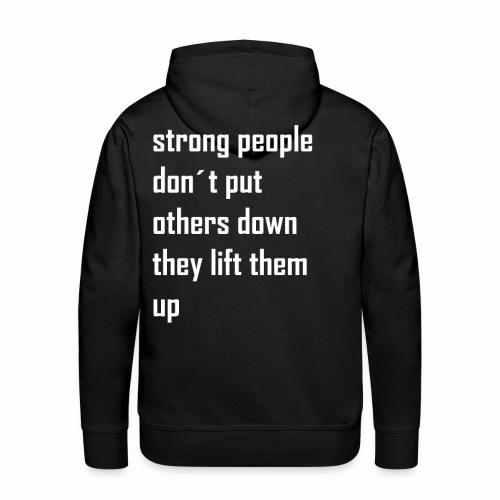 strong people - Mannen Premium hoodie